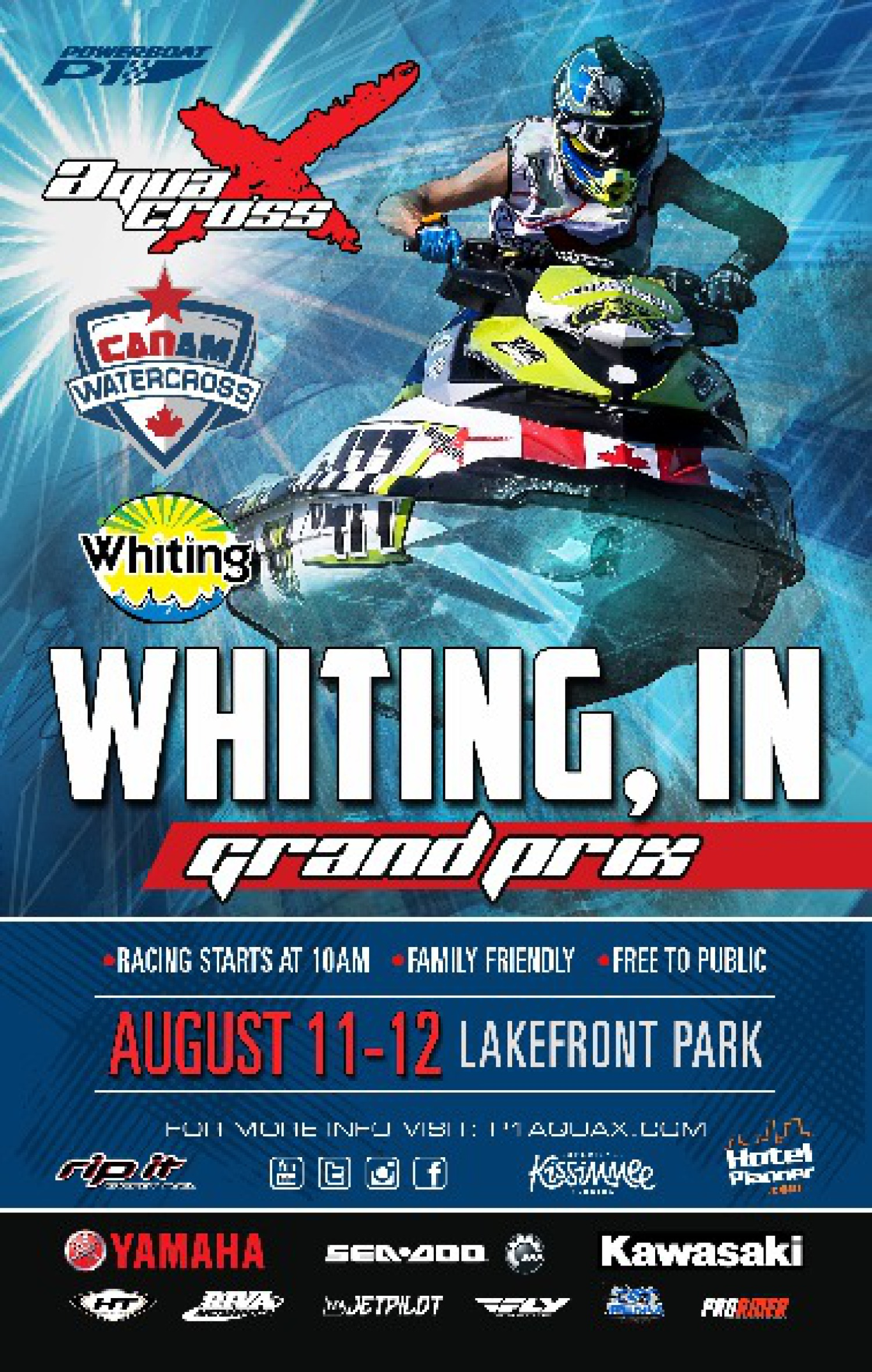 Whiting Indiana Can-Am Watercross Poster
